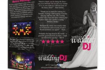 Norfolk Wedding DJ Promo Leaflets
