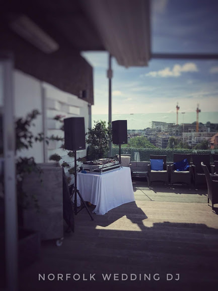 Wedding at Rooftop Gardens, Norwich 4.8.2018 - Norfolk Wedding DJ www.norfolkweddingdj.co.uk